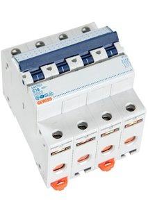 Gewiss Installatieautomaat C16 | 4 polig | GW92087