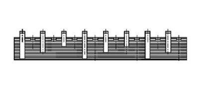 Kamrail - 3 Fase - 8x 1P+N