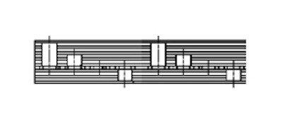 Kamrail - 2x 3 module Aardlekschakelaar