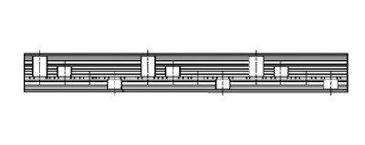 Kamrail - 3x 3 module Aardlekschakelaar