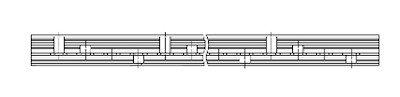 Kamrail 3 Fase - 56 module (14x4P)