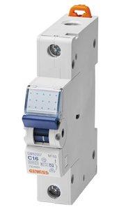 C6 Installatieautomaat zonder Nul 1 polig